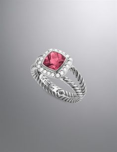 Petite Albion Ring with Pink Tourmaline