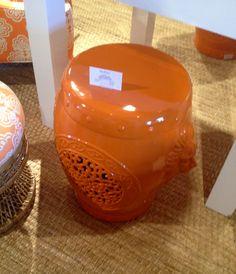 High Point Market Spring 2012-Lilly Pulitzer Orange Garden Stool.
