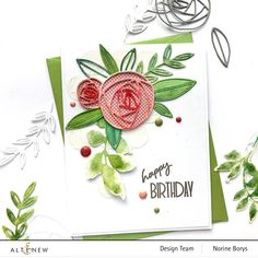 4 Cards from One Die Set – Rolled Roses Die Focus Altenew Cards, Vellum Paper, Little Rose, Cardmaking And Papercraft, Leaf Coloring, Coordinating Colors, Pretty Cards, Flower Cards, Rose Buds