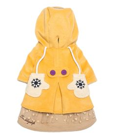 Yellow Hooded Coat For Dogs