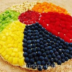 Image detail for -Beach Ball Fruit Pizza – Tip Junkie Crafty Food