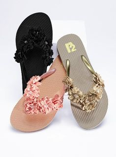 Victoria's secret multi-flower flip flop.