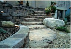 rock creations by dale..... artificial rock steps