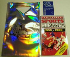 """Grays Sports Almanac with a """"Blast from the Past Bag"""" and Transparent Receipt, $135"""