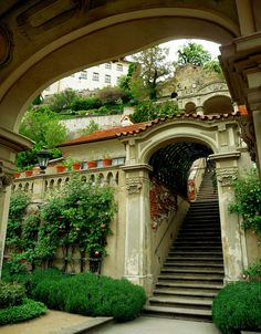 Prague Castle Gardens Arch by Tuatha Beautiful Castles, Most Beautiful Cities, Visit Prague, Prague Czech Republic, Prague Castle, Heart Of Europe, Castle In The Sky, Oh The Places You'll Go, Eastern Europe