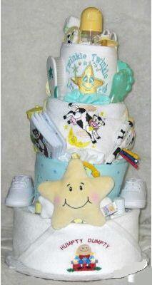 nursery rhyme theme diaper cake party centerpiece decorations