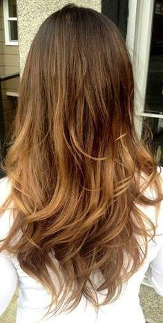 Dark brown to light brown hair