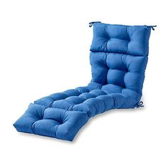 online shopping for Greendale Home Fashions Indoor/Outdoor Chaise Lounger Cushion, Marine Blue from top store. See new offer for Greendale Home Fashions Indoor/Outdoor Chaise Lounger Cushion, Marine Blue Chaise Cushions, Patio Furniture Cushions, Outdoor Lounge Chair Cushions, Patio Cushions, Outdoor Furniture, Outdoor Loungers, Chaise Chair, Furniture Sale, Cabanas