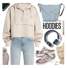 """Cozy Hoodies"" by deepwinter ❤ liked on Polyvore featuring Vetements, Sloane Stationery, Ivy Park, Madewell, Marc Jacobs and Hoodies"