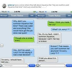 fairy tail text messages - Google Search