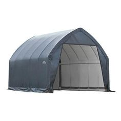 ShelterLogic - Garage-in-a-Box 13 ft. x 20 ft. x 12 ft. Alpine Style Garage - Built for SUV's and full size trucks, this garage has a reinforced door rafter and bigger, stronger alpine frame with a reinforced roof structure. Portable Carport, Carport Canopy, Small Suv, Small Trucks, Gazebo, Car Canopy, Car Shelter, Alpine Style, Steel Garage