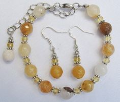 Citrine & Topaz Crystal Beaded Adjustable Bracelet & Drop Dangle Earrings, Tagged & Gift Boxed Always Inspired by Amanda http://www.amazon.com/dp/B014CDBAY0/ref=cm_sw_r_pi_dp_wMuewb0VHZBAE