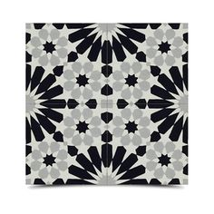 Pack of 12 Agdal Grey and Black Handmade Cement and Granite 8-inch Floor and Wall Tile (Morocco) - Overstock Shopping - Great Deals on Accent Pieces
