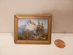 MINIATURE PAINTING BY VICTOR FRANCO MOUNTAIN SCENE