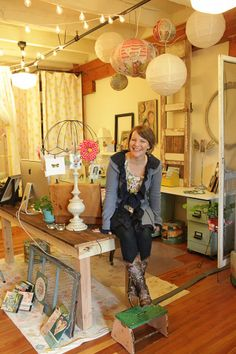 Kelly Rae Roberts studio -- featured in the upcoming Nov/Dec/Jan '3 issue of Where Women Create magazine #art #artist