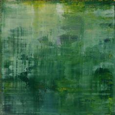 "Koen Lybaert; Oil, 2013, Painting ""abstract N° 647 [High Fens, Eifel]"""