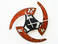 Sweep IV Modern Wall Clock Rusted by All15Designs on Etsy, $52.00    Scott does some of the most inovative metal clock designs that I have ever seen. I love his work!