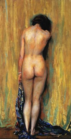 Standing Nude - by Guy Rose (1867-1925), USA