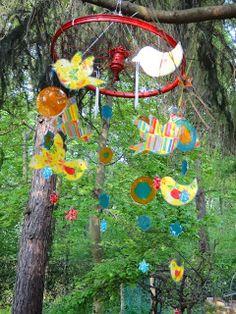 Ines Felix - Kreatives zum Nachmachen: Sommerliches Mobile für den Garten