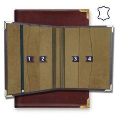 Para Guía de Actividades, revistas, Hojas de Asignación y mucho mas Modelo: Con 8 bandas elásticas y 2 compartimientos de reserva a cada lado Medidas: 21,5cm de ancho x 26cm de largo Material: Piel de Primera