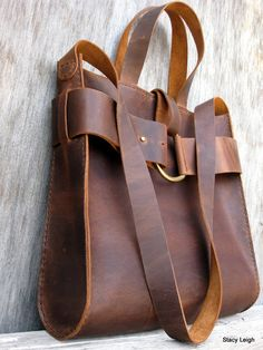 Mustang Oiled Cowhide Leather Rustic Harness Tote
