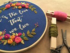 Embroidery hoop,Embroidery art,Hand embroidery,Embroidery hoop art,Floral embroidery,Modern embroidery,Home decor,Personalized custom order by zezehandcraft on Etsy https://www.etsy.com/listing/540369759/embroidery-hoopembroidery-arthand