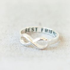 Best Friends Infinity Ring in silver. $17.00, via Etsy