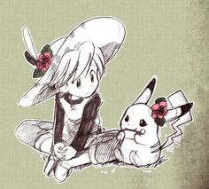 Pksp:Yellow and her pika Pokemon X And Y, Pokemon Manga, Pokemon People, Pokemon Red, Cute Pokemon, Pokemon Special, Manga Books, Pokemon Pictures, Anime