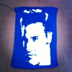 Crochet craft by Virpi Siipola. Elvis Presley, Blue