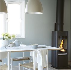 Bilderesultat for minty breeze Kitchen Interior, Kitchen Decor, Jotun Lady, Ideas Prácticas, Decor Ideas, Wonderwall, Modern Kitchen Design, Wall Colors, Paint Colours