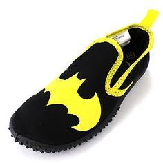 Batman Boys Black Aqua Socks Water Shoes M US Little Kid) - Relaxbuddy Online Shopping Fashion Slippers, Fashion Shoes, Kids Fashion, Boy Shoes, Girls Shoes, Aqua Socks, Water Shoes, Shoes Online, Batman