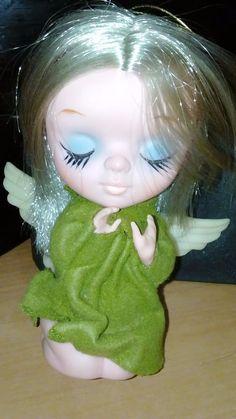 Vintage Rubber Doll 1967 Kamar Angel Made in Japan PRE BLYTHE Big Eyed Doll