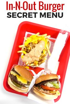 There are 29 In-N-Out Burger Secret Menu items. Have a look at the complete list at the best burger joint in the United States. ~ http://www.baconismagic.ca