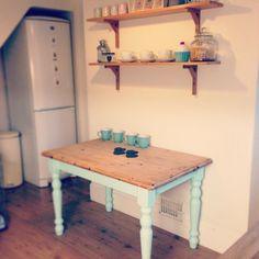 DIY mint shabby chic table by Char Char Benson