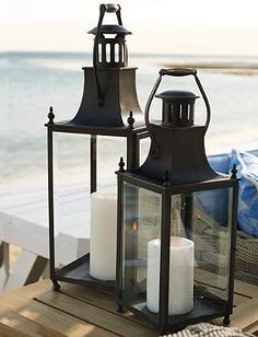 Add a romantic glow to your outdoor parties with the handsome Beacon Lantern; a bold mixture of elegant and durable.
