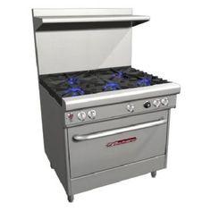 """Southbend 4365D 36"""" Open Burner Gas Restaurant Range - Ultimate 400 Series 224,000 BTU"""