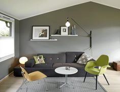 I like the #grey. #livingroom