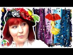 Live How to paint City Walk Girl in the Rain abstract art lesson for beginners - YouTube
