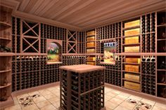Store your wine collection in the Wine Cellar Innovations Vintner Series 1 Column Rectangular Bin Wine Cellar Racks, Wine Cellars, Wine Rack Table, Wine Cellar Innovations, Wine Storage Cabinets, Wine Cellar Design, Wine Collection, Wine Refrigerator, Home
