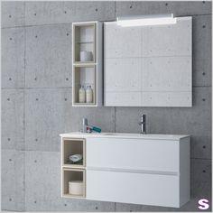 Weißes Badmöbel Set Desna   SEBASTIAN E.K.   Geradliniges Und Gleichzeitig  Offenes Design Ist Das Erkennungsmerkmal