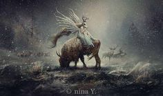 Nina Y. is a self-taught digital artist who creates worlds of fantasy based off of children's fairy tales.