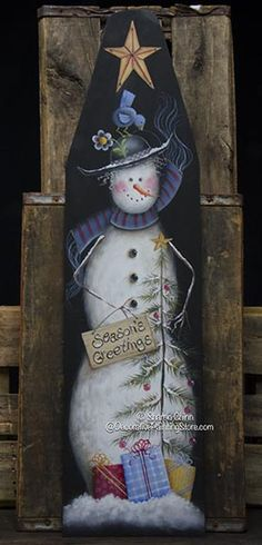 Season's Greetings Snowlady Ironing Board Pattern