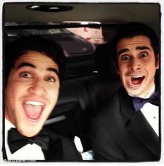 Darren Criss' photo: Alright, so now that @JoeyRichter is a big star on Glee, I decided he was cool enough to be my hot date to the @sagawards