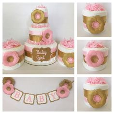 Lovely Pink And Gold Baby Shower Party Package, Pink And Gold Baby Shower  Decorations, Pink