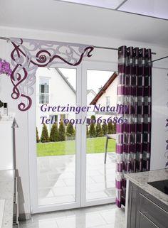 langer wohnzimmer schiebevorhang in braun - http://www.gardinen, Innenarchitektur ideen
