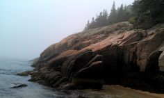 Sand Beach, Acadia National Park. The beauty of it is all-consuming and indescribable. #Maine