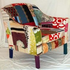 I love quilts and these chairs really put them to stylish use