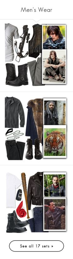 """Men's Wear"" by chey-love ❤ liked on Polyvore featuring Lords of Harlech, LE3NO, Frye, men's fashion, menswear, Ezekiel, Yves Salomon, Rick Owens, L.L.Bean and Handle"