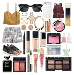 """""""Sin título #327"""" by frichu on Polyvore featuring moda, H&M, Boutique Moschino, adidas Originals, Michael Kors, NARS Cosmetics, Charlotte Tilbury, MAC Cosmetics, Too Faced Cosmetics y Christian Louboutin"""