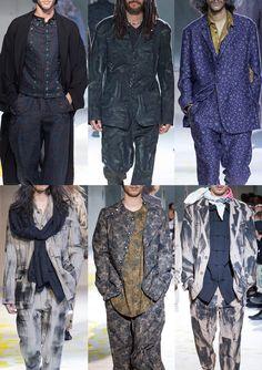 Paris Menswear Print Highlights – Spring/Summer 2015 catwalks from blog.Patternbank.com - Yohji Yamamoto